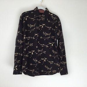 Ben Sherman Cotton Black Stripe Print Shirt